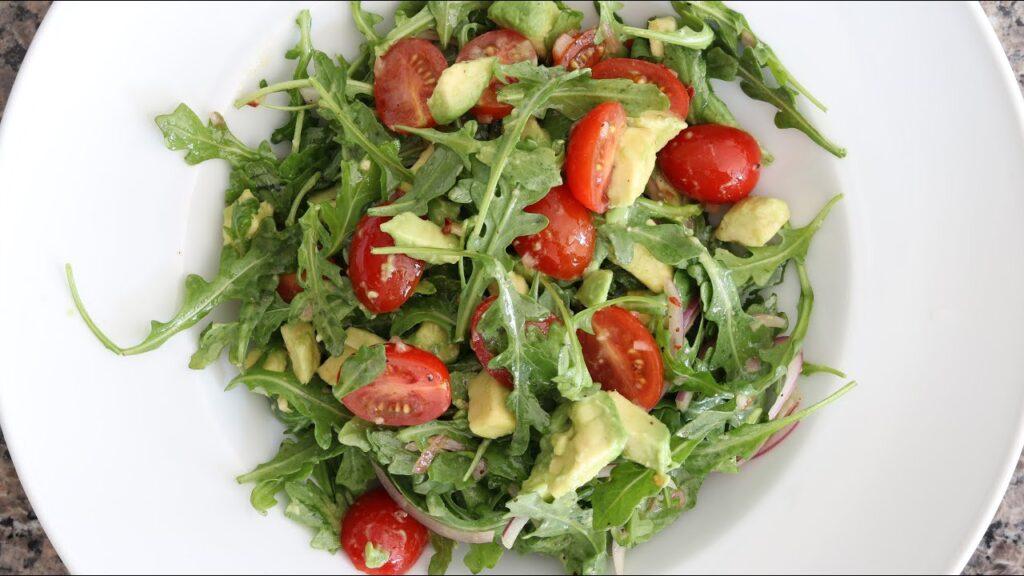 Arugula Avocado & Tomato Salad Recipe