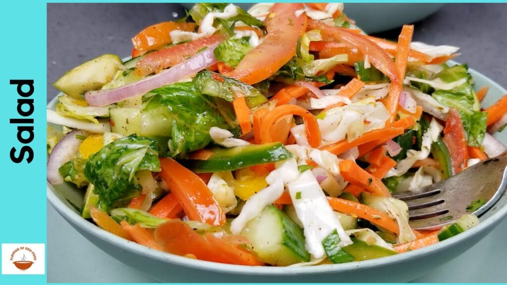 Green Salad | Super healthy and delicious Salad Recipe in Urdu Hindi | Flavour of Desi Food – EP 28