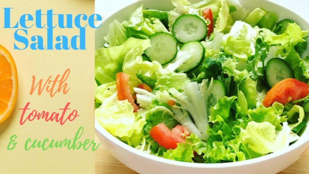 Lettuce Salad – Healthy Salad for Weight Loss – Salad Xà Lách, Cà Chua Và Dưa Leo