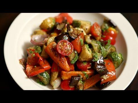 Roasted Vegetable Salad Recipe | Quick & Easy Baked Veg Salad | Ruchi's Kitchen